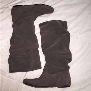 Steve Madden Tianna grey slouch boots