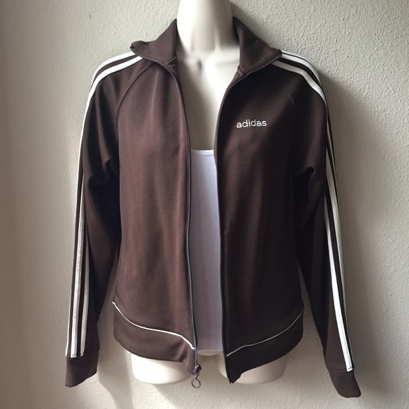 Adidas - Adidas Chocolate Brown Track Jacket from Dawn&39s closet on