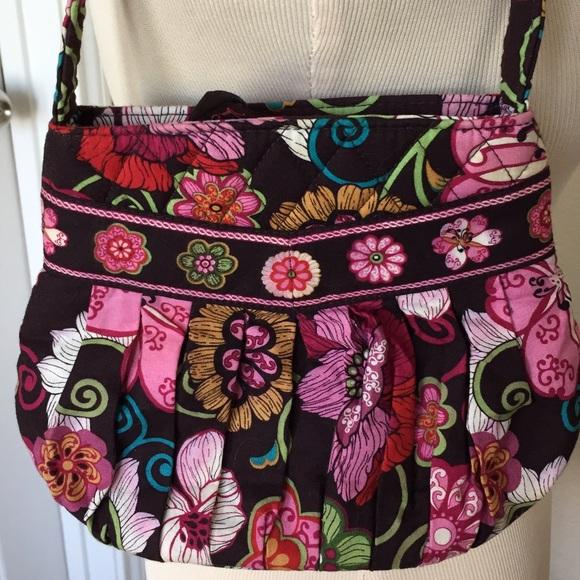 Cute Vera Bradley Shoulder Bag~EUC~Mod Floral Pink bce4346064b67