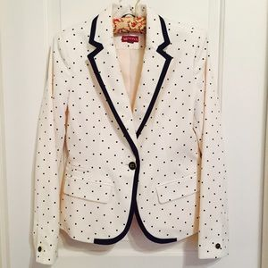 Merona polka dot blazer with gold buttons!