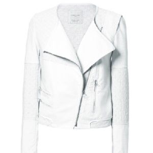 Zara white textured jacket
