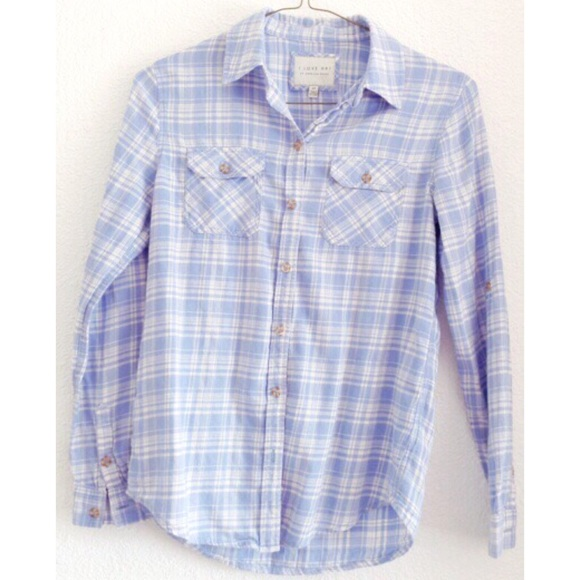 f0d2b041d630a Sky blue pastel flannel shirt