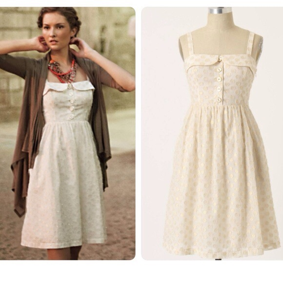 White dresses collection - White dot dress anthropologie