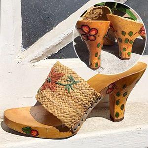 HANDPAINTED Vintage 50's Heels