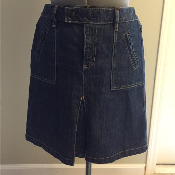 84% off GAP Dresses & Skirts - Knee length dark denim skirt. from ...