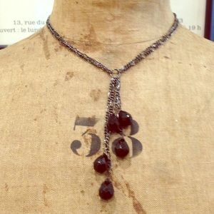 Jewelry - Black Teardrop Bead Necklace