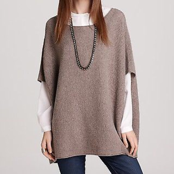 87% off Vince Sweaters - Vince Wool Cashmere Ribbed Jumper Poncho ...