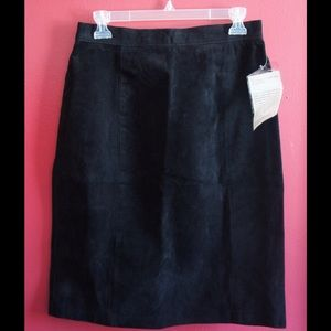 Bagatelle leather black skirt NWT