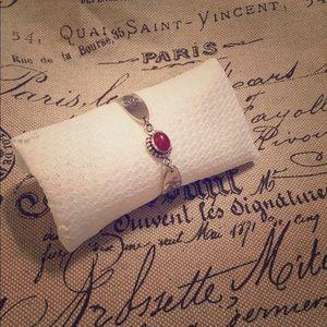 Jewelry - Antique upcycled silverware bracelet.