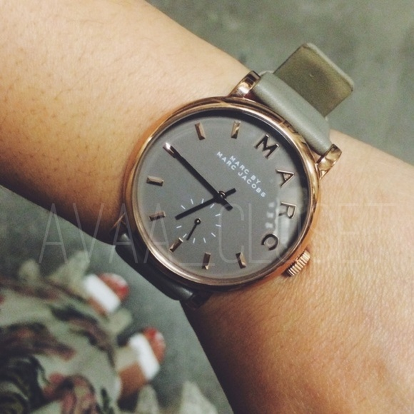 Marc By Marc Jacobs Accessories Watch Gray Rosegold Baker Poshmark