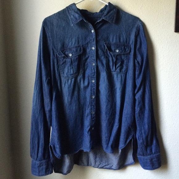 87c1e380f351 jcpenney Tops | Womens Highlow Denim Shirt Like New | Poshmark
