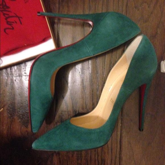 christian louboutin shoes green