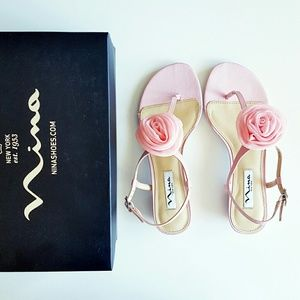 nina Shoes - Nina shoes Kady pink floral sandals NEW