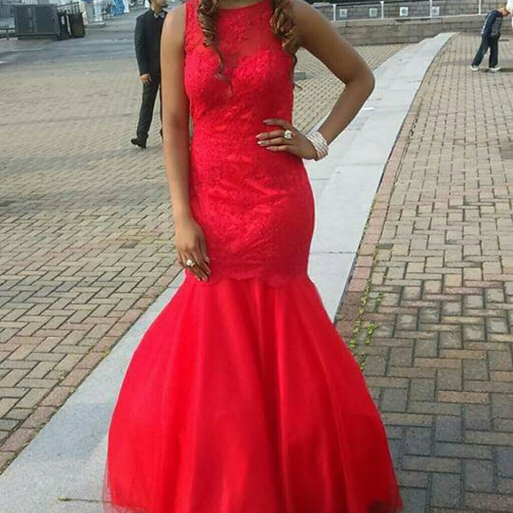 Clarisse Dresses Red Prom Dress Mermaid Style Tight Fitting Poshmark