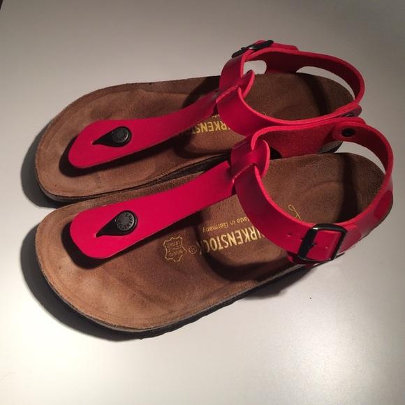 Birkenstock Women's Kairo T Strap Sandal Red