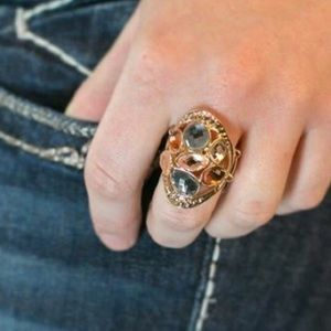 Multi Colored Gold Ring