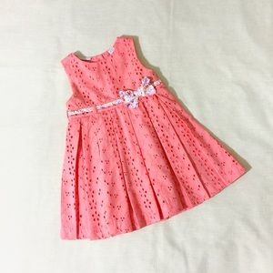 Other - Pink Pleated Dress for Baby Girl 12m
