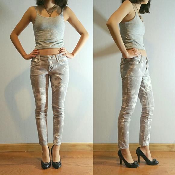 80% off Express Denim - Express Tie dye skinny jeans ankle length ...