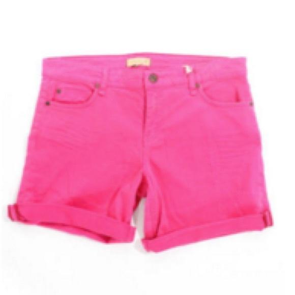 50% off Sanctuary Pants - Sanctuary Hot Pink Denim Shorts from ...