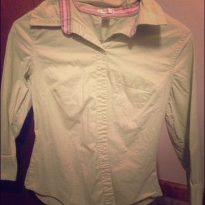 Green Old Navy Button-Up