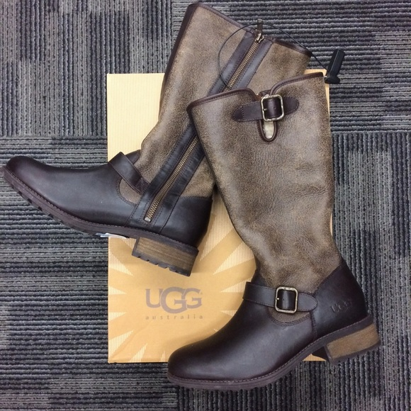 ba484c9b402 New UGG Chancery Tall Winter Leather Boots 9 M Boutique