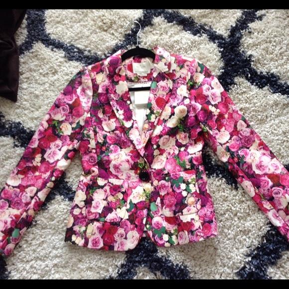 78d16c13 kate spade Jackets & Coats | Nwt Rose Millie Floral Blazer Size 2 ...