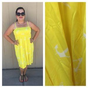 🆕LISTING Yellow Anchor Dress