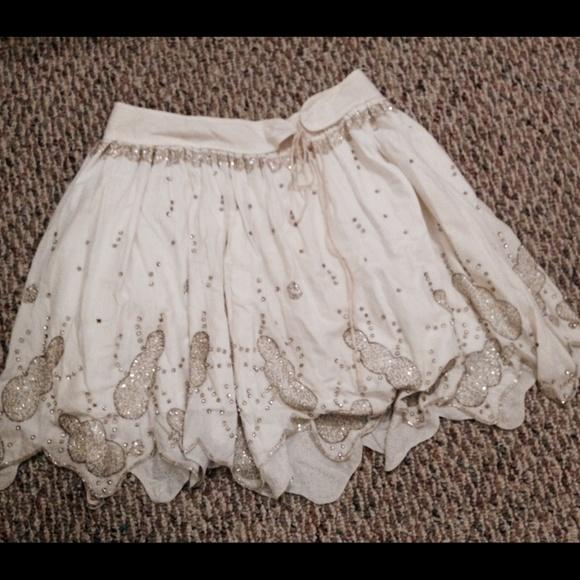 5f6656d32b Ruehl No.925 Skirts | Ruehl White Beaded Skirt | Poshmark