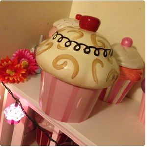 Cappuccino Cupcake Cookie Jar