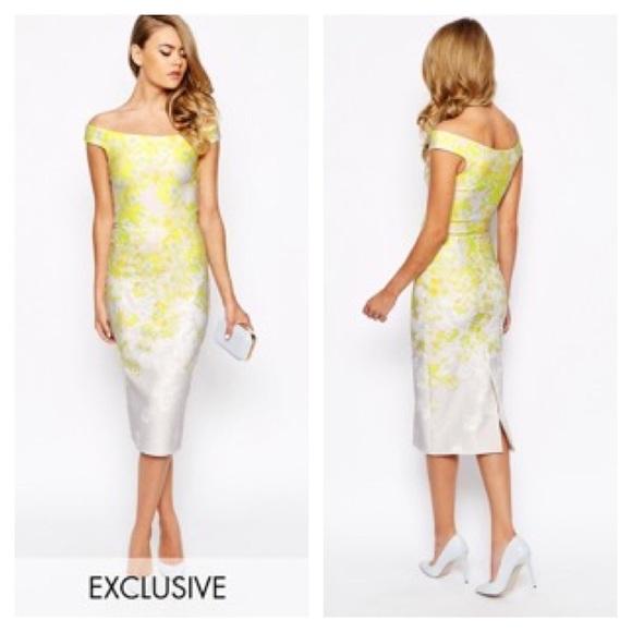 df0bc78647c2 ASOS exclusive True Violet Bardot neoprene dress S