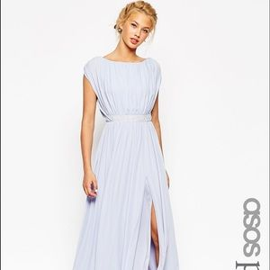 ASOS PETITE Lavender Purple Goddess Maxi Dress