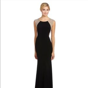 Dresses & Skirts - forest green and silver beads silhouette gown