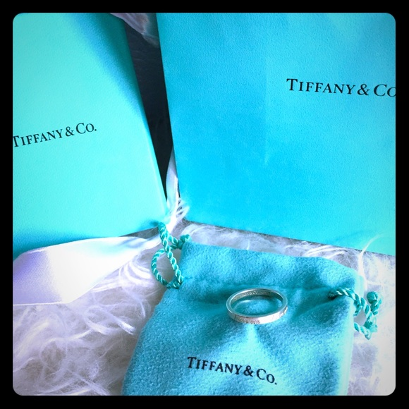 Tiffany & Co. Jewelry - Authentic Tiffany & Co. 'I Love You' Ring Sz 8
