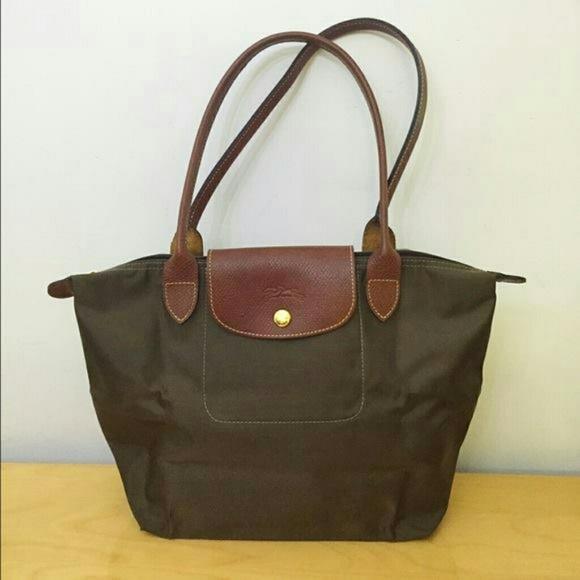 afe071be936c Longchamp Handbags - Longchamp Le Pliage Brown.Medium shoulder tote