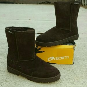 The Realm Cardiff II Chocolate Wool Boot