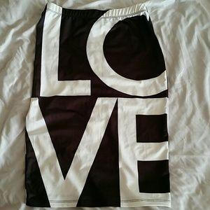 LOVE midi skirt