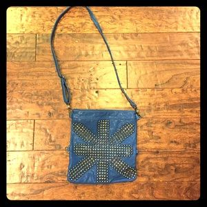 Royal Blue Studded Crossbody/Clutch Bag