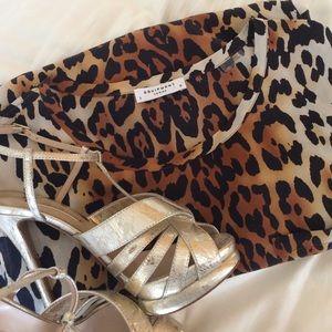 Equipment Tops - Equipment cheetah silk blouse