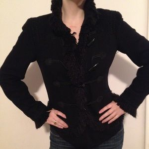 Zara Jackets & Blazers - Zara Woman S Black Boucle Wool Jacket, EUC