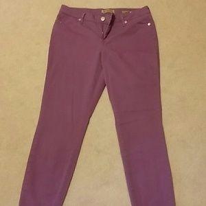 Vintage purple skinny jeans