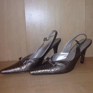 Shoes - Elements by Nina sling back heels . Size 6.5