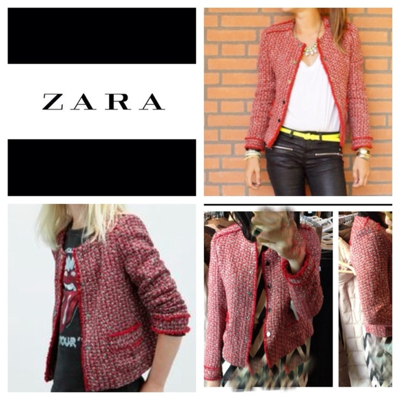 Excellent Zara Jackets & Coats | Tweet Jacket Blazer Chanel Style Look A  WT41