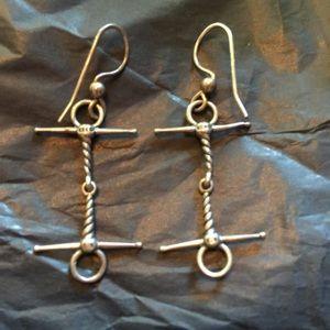 Jewelry - Sterling Silver Horse bit earrings