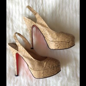 Christian Louboutin Shoes - Christian Louboutin Bianca Cork  Slingback Pumps