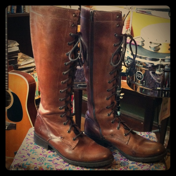 a023ef0de59f Frye Shoes - Frye Melissa Tall Lace-up Boot- Gently Worn!