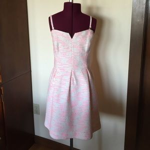 Anthropologie Dresses & Skirts - Moulinette Soeurs Pink White Pasteque Tweed Dress