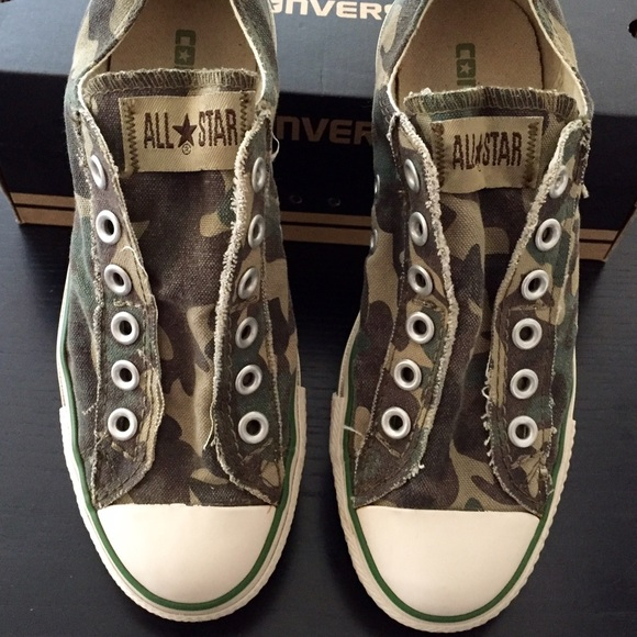 03521e009dce8 Converse Shoes - Converse All Star. Slip On Camo Shoe. Size 6.5