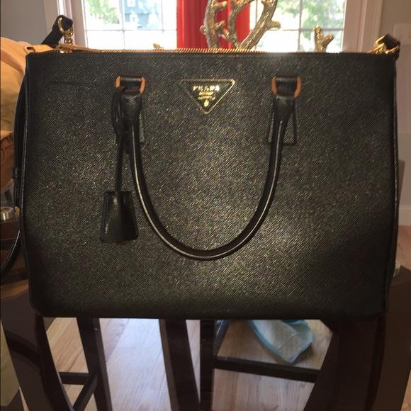 4992e2765e13 Prada Bags | Authentic Saffiano Med Double Zip Tote | Poshmark