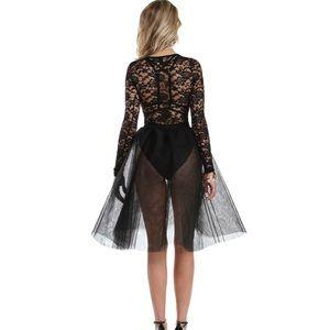 WINDSOR Dresses - Bella Black Formal Lace Tulle Dress