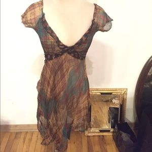 For love and liberty sheer silk dress